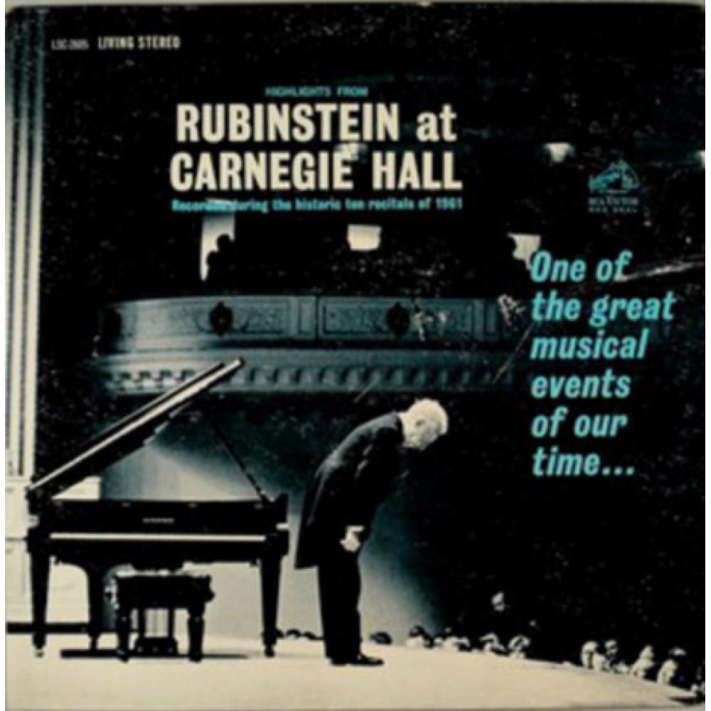 Альбом Highlights From Rubinstein At Carnegie Hall